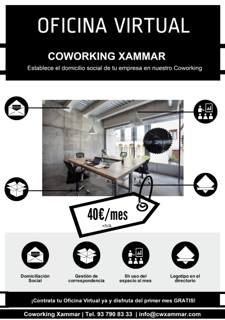 Oficina virtual en coworking xammar coworking xammar for Oficina virtual sepecam